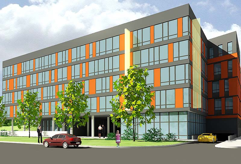 Блок гаражей с административными и вспомогательными помещениями в Сухарево-2